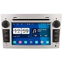 Roverone Android Sistema de doble DIN Autoradio GPS para Opel Zafira Astra H, Antara, Corsa D C Vivaro Vectra con navegación Radio estéreo DVD Bluetooth SD USB pantalla táctil