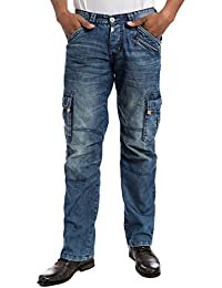 "Timezone Benitotz ""3756 Blue Marble Wash"" - Jeans - Cargo - Homme"