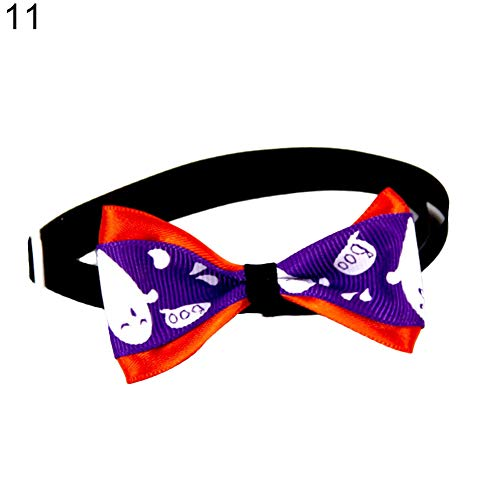 mit Fliege für Katzen und Halloween, verstellbar, Halsband ()