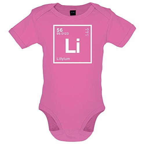 Lilly Periodensystem - Lustiger Baby-Body - Bubble-Gum-Pink - 0 bis 3 Monate