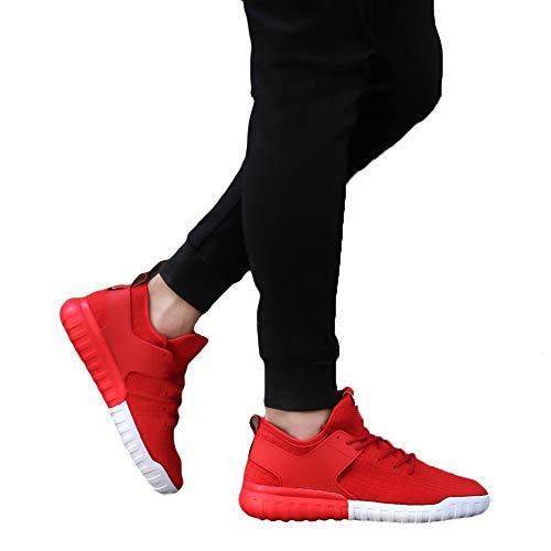 MYMYG Damen Turnschuhe High Top Laufschuhe Wanderschuhe Frauen Sportschuhe Damen Herren Breathable Fashion Casual Schuhe Gewebte Turnschuhe Paare ()