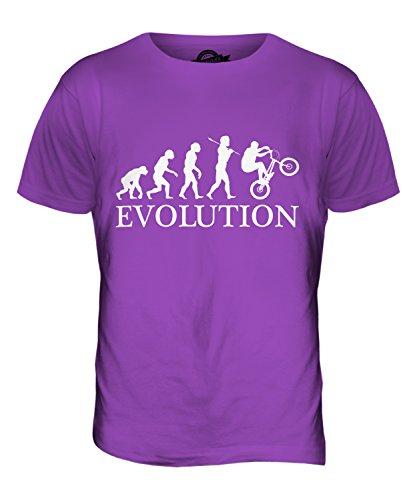 CandyMix Bmx Evolution Des Menschen Herren T Shirt Violett