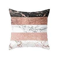 display08 Geometric Striped Flower Throw Pillow Case Cushion Cover Home Sofa Decor - (16#)