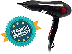 CETC Hair Dryer (With 1 Year Warranty) 2000 watt Professional Prominent Hair Dryer with cool & hot Air (Black)