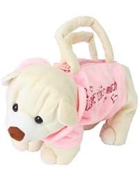 Cute Bear-Shape Plush Bag Handbag Purse for Children ---Pink and Beige