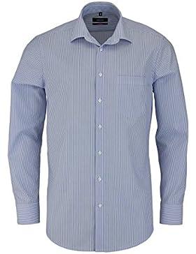 SEIDENSTICKER Modern Hemd extra langer Arm Streifen hellblau AL 70