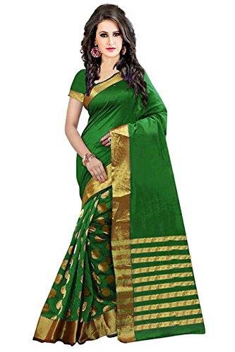 Beautik Lifestyle Women's Silk Saree (Green)