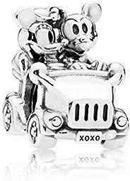 Pandora 797174 Silver Disney Mickey Minnie Car Charm