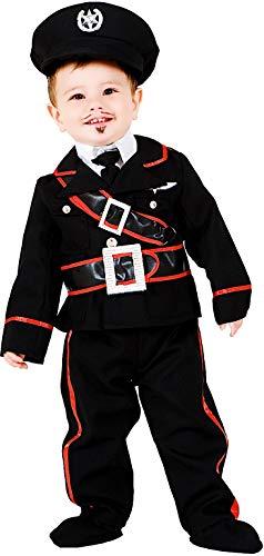 COSTUME di CARNEVALE da PICCOLO CARABINIERE vestito per neonato bambino 0-3 Anni travestimento veneziano halloween cosplay festa party 7705 Taglia 1