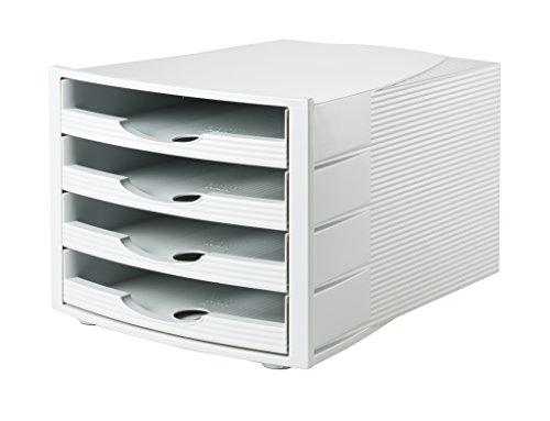 Han cassetti Box Monitor, aspetto moderno in qualità premium con 4cassetti aperti lichtgrau