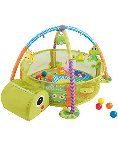 KONIG KIDS 3 en 1 Baby Activity Gym & Ball Pit Infant Floor Floor Alfombra de juego perfecta para bebés...