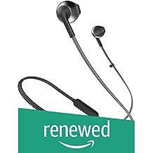 (Renewed) JBL T205BT Pure Bass Wireless Metal Earbud Headphones with Mic (Black)