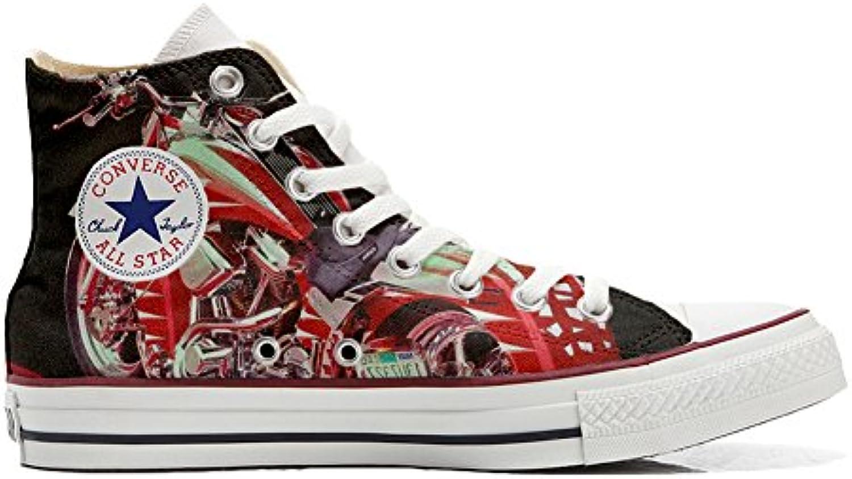 Converse All Star Customized - Zapatos Personalizados (Producto Artesano) Motocicleta  -
