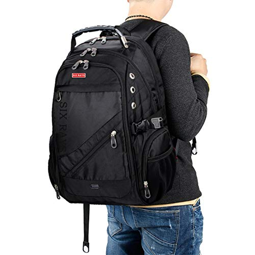 asche Mann Schweizer Rucksack Polyester Taschen Wasserdicht Anti-diebstahl-Rucksack Laptop-rucksäcke Männer Markentaschen ()