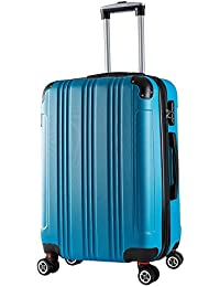 25daf3eeab2 WOLTU Hard Shell Suitcase Lightweight ABS Travel Trolley Case 4 Wheel  Spinner Luggage Suitcase Bag Volume