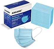ASGARD® 3 Layer Protective Face Mask with NOSE CLIP, Certified by CE, ISO & GMP with Bacterial Filtration