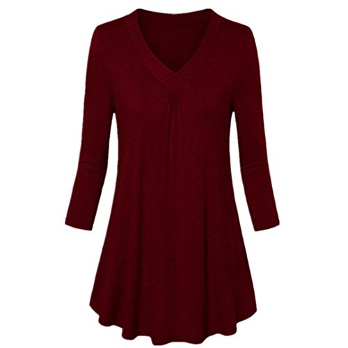 a3473ab3ceab ESAILQ Damen Lose Asymmetrisch Sweatshirt Pullover Bluse Oberteile  Oversized Tops T-Shirt(XL,