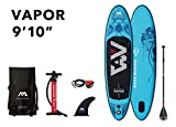 "AQUA-MARINA Stand up Paddle Gonflable Sup AQUAMARINA Vapor 2019 Pack Complet 300x76x12cm Unisex Adult, Bleu, 3007612 9'10""x30''x4.7''"