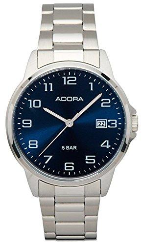 Herrenuhr Armbanduhr Analoguhr Edelstahluhr mit Faltschließe Adora 29402, Variante:03
