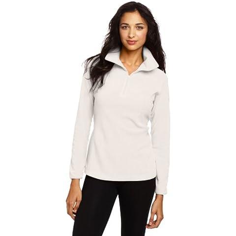 Columbia Glacial Fleece III 1/2 Zip - Jersey de forro polar para mujer, color blanco, talla L