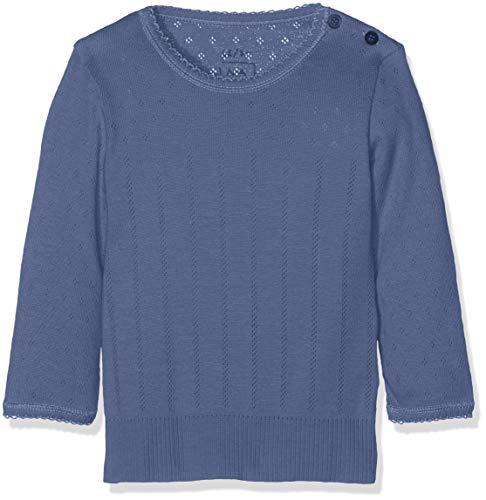 NOA NOA MINIATURE Noa Noa miniature Mädchen Langarmshirt Baby Basic Doria Body Blau (Vintage Indigo 758) 62 (Herstellergröße: 3M)