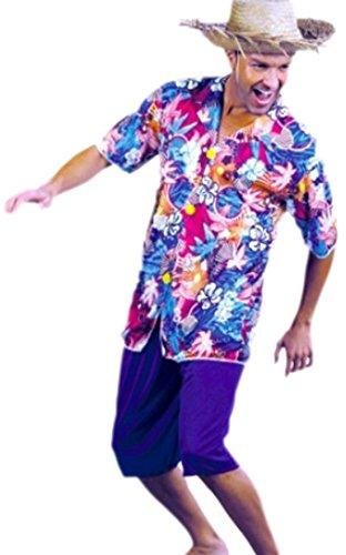 erdbeerloft - Herren Hawaiihemd, Shirt, Kostüm, Karneval, Fasching, M/L, Mehrfarbig