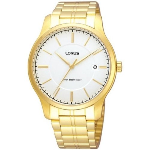 Lorus Gents wristwatch Gold Plated case and bracelet RXH76JX9