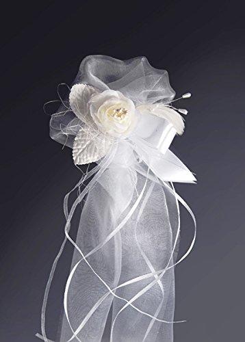 Hochzeits - Blumendeko für die Kirche für Bänke und Stühle 2 Stück Kirchenschmuck Hochzeitsgesteck (weiß und crème)