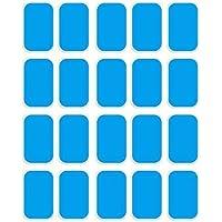 Gel Pad para EMS Estimulador Músculo, Electronico Abdominal Entrenamiento de Repuesto de Gel Almohadillas, Recambio Gel Pad (Musculo Abdominal)
