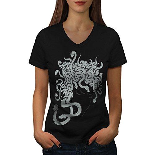 nst Fantasie Angst Faktor Damen S V-Ausschnitt T-shirt | Wellcoda (Faktor Angst-spiele Für Halloween)