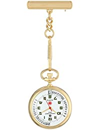 Charles-Hubert, Paris Unisex 6901-G Classic Collection Analog Display Japanese Quartz Gold Pocket Watch