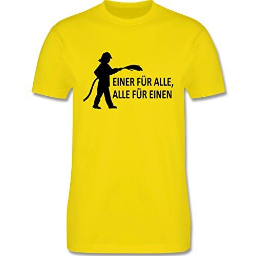 Feuerwehr - Einer für alle, alle für einen - Herren Premium T-Shirt Lemon Gelb