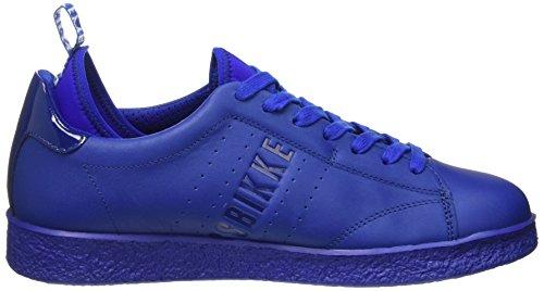 Bikkembergs Best 596 L.Shoe M Leather (with Socks), Pompes à Plateforme Plate Homme, Bianco Bleu (Blu)