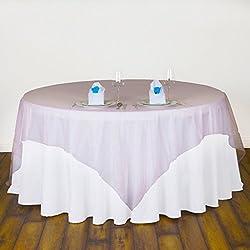BITFLY 5Pcs 180cm x 180cm Mantel cuadrado Tela de Organza Cubierta de la cubierta de la tabla Banquete / boda / nupcial / anual / fiesta / DIY Decoración 30 colores disponibles Rosa claro