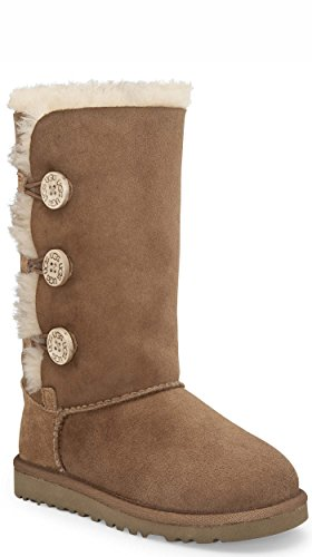 UGG Kid's Bailey Button Triplet , Bottes mixte enfant Noisette