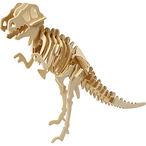 Kit de construcción 3D, Dinosaurio, lxaxa 33x8x23 cm, madera contrachapada, 1ud