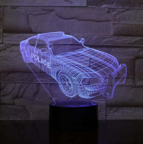 Joplc Neuheit Beleuchtung 3D Illusion LED Lampe Polizei Auto Modell Nachtlichter Für Kinder Schlafzimmer Dekoration Kreative Geschenk Lampen