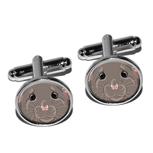 dumbo-pet-rat-souris-boutons-de-manchette-rond-argent-pour-rongeurs