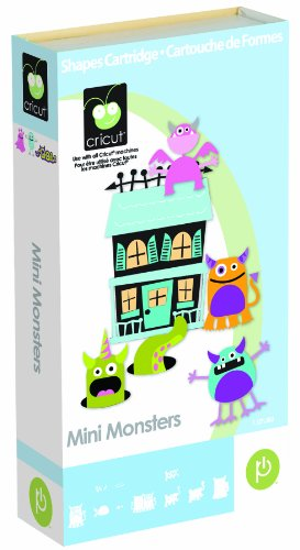 Unbekannt Cricut Scrapbooking Mini Monster Formen (Provo Craft Scrapbooking)
