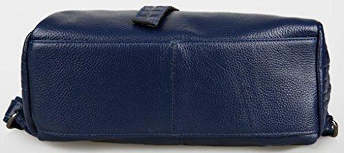 Keshi Leder Cool Damen accessories hohe Qualität Einfache Tasche Schultertasche Freizeitrucksack Tasche Rucksäcke Schwarz