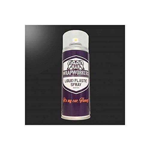WrapWorkers Pintura en Spray de Vinilo Líquido Negro Brillo