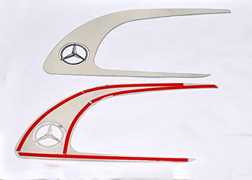 Passen Mercedes Actros MP4 Türgriffrahmen Super Polierter Edelstahl 2 Stück