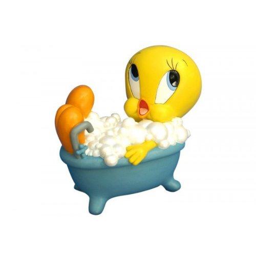 Titi-Titi-Hucha en el baño.