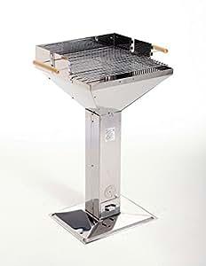 Landmann Barbecue in acciaio INOX 69x96x50 cm, superficie di cottura ca. 48x46,5 cm