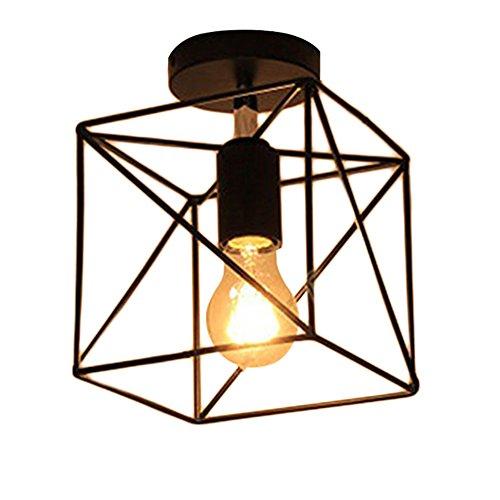 MOTENT Käfig Eisen Draht Lampenschirm Deckenleuchte, Retro Industrielle DIY Stehlampe Pendelleuchte 7,09