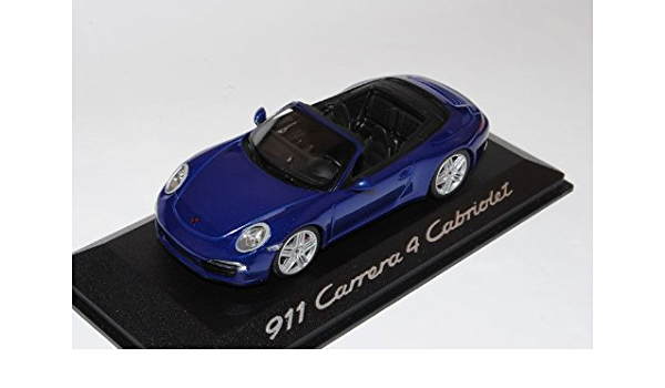 Minichamps Porsche 911 991 Carrera 4 Cabrio Blau Ab 2012 1 43 Modell Auto Mit Individiuellem Wunschkennzeichen Spielzeug
