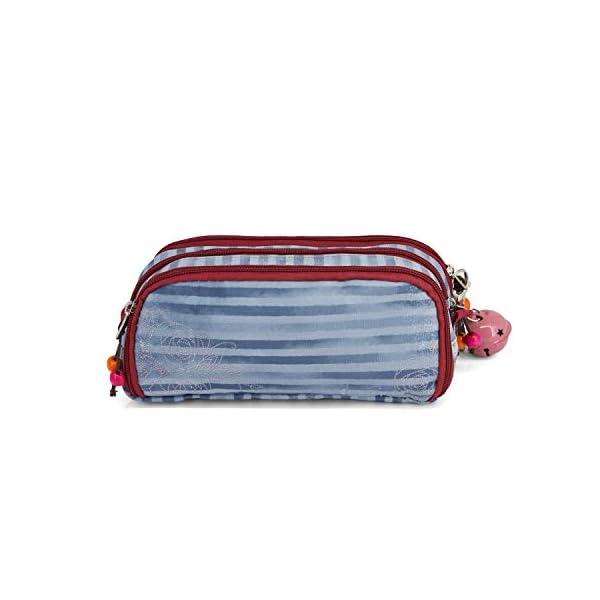 Forever Ninette Origin-Note – Estuche portatodo con 3 compartimentos, Azul, 22 cm
