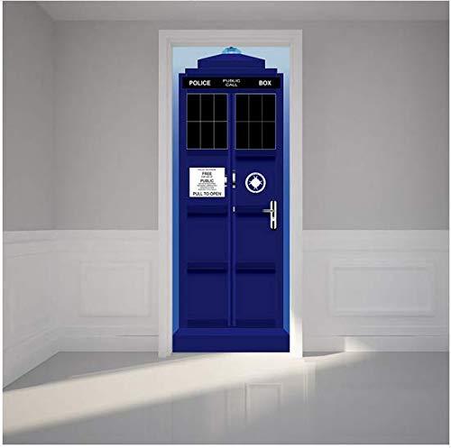 ce Box Tür Renovierung Wandaufkleber 3D Kunst Vinyl Wandaufkleber Wasserdicht Selbstklebende Abziehbilder Dekor ()