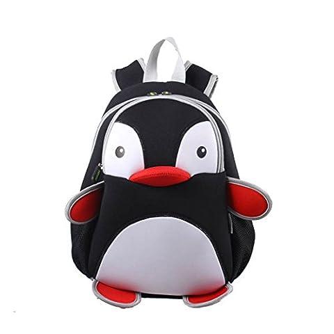 NohooHaha 3D Pinguin Kinderrucksäcke für Kindergarten,Schule und Wandern,für 2-5 Jahre Mädchen und Jungen