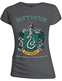 Harry Potter Slytherin Team Camiseta Mujer Gris marengo